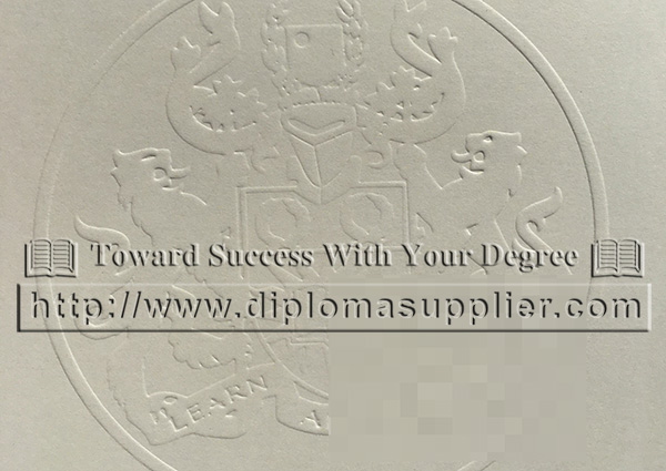 Open University embossed seal, OU st