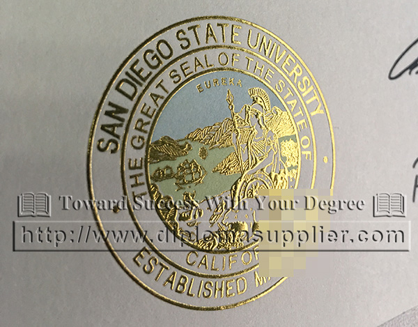 San Diego State University gold seal