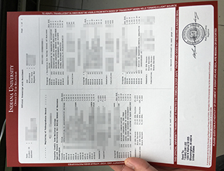 Indiana University fake transcript,