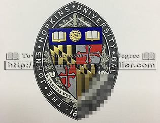 The Johns Hopkins University emblem,