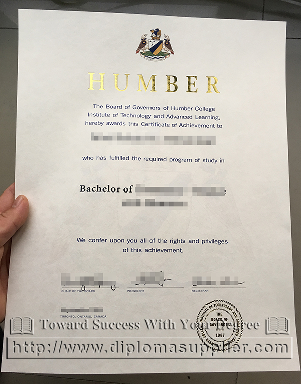 Humber College degree, Humber College diploma, Humber College certificate