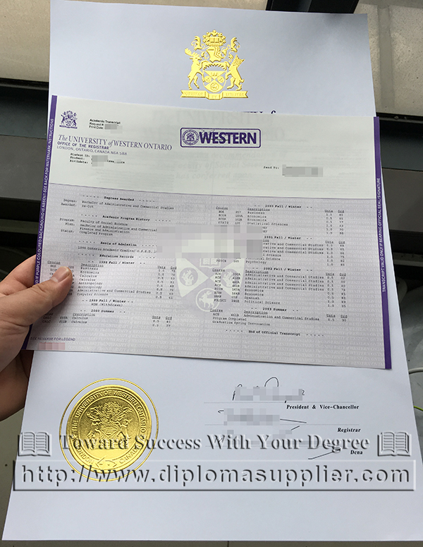 University of Western Ontario degree, UWO diploma, UWO certificate