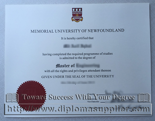 Memorial University of Newfoundland degree, Memorial University diploma