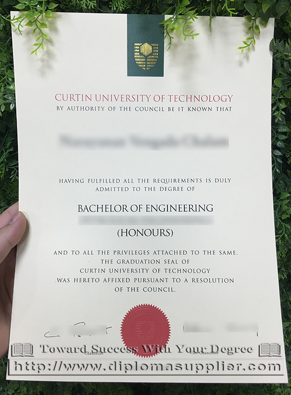 Curtin University degree, Curtin University diploma, Curtin University certificate