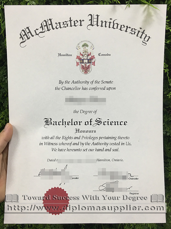 McMaster University degree, McMaster University diploma, McMaster University certificate