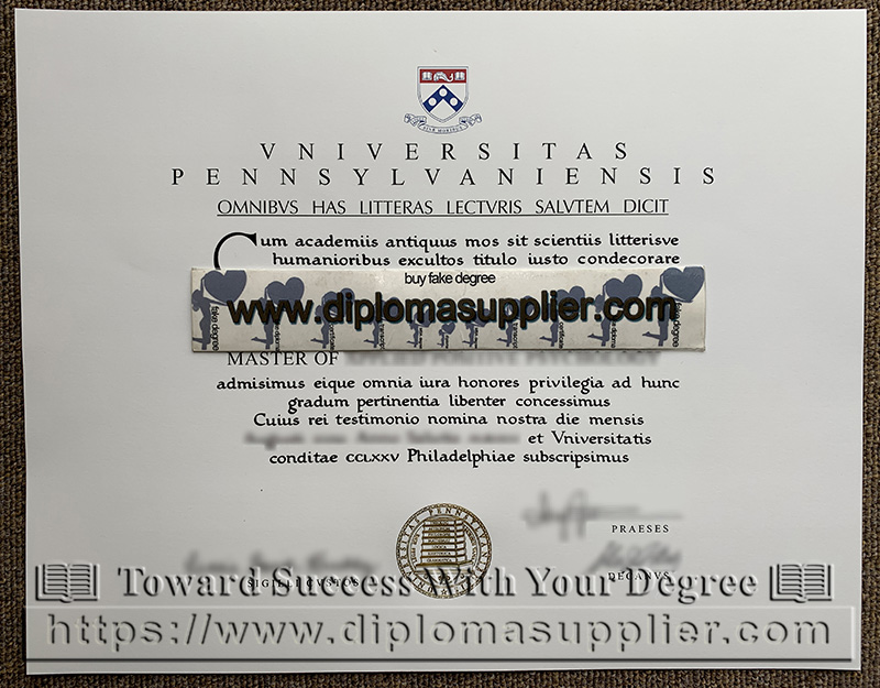 UPenn diploma, UPenn degree certificate, University of Pennsylvania degree