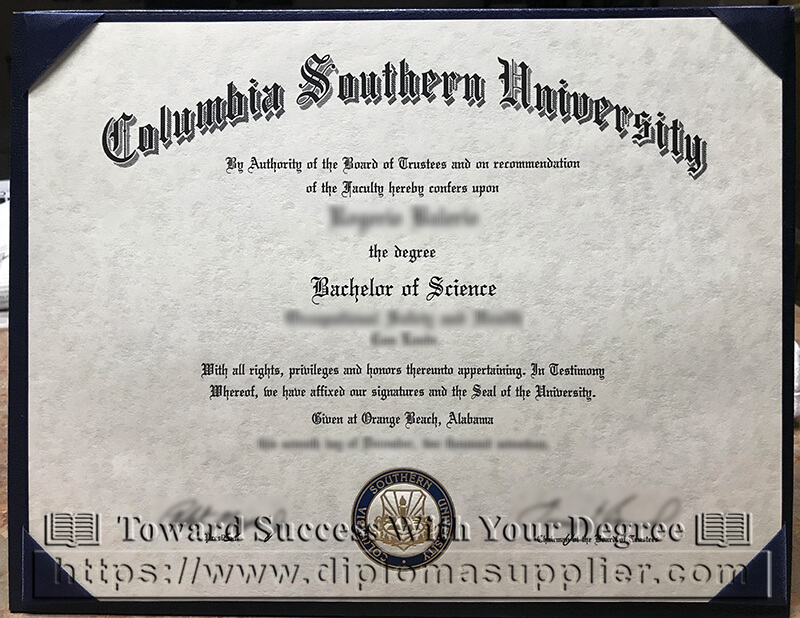Columbia Southern University degree, CSU diplom, Columbia Southern University diploma