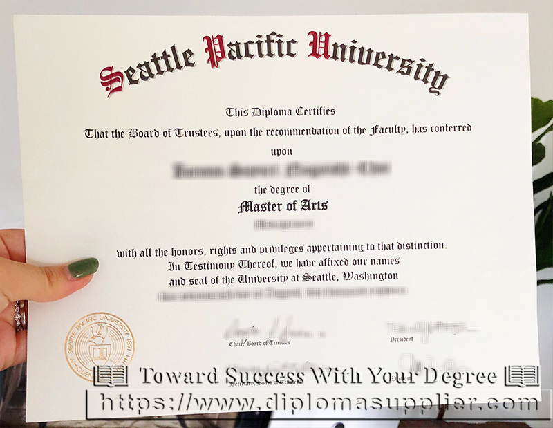 Seattle Pacific University Fake Diploma
